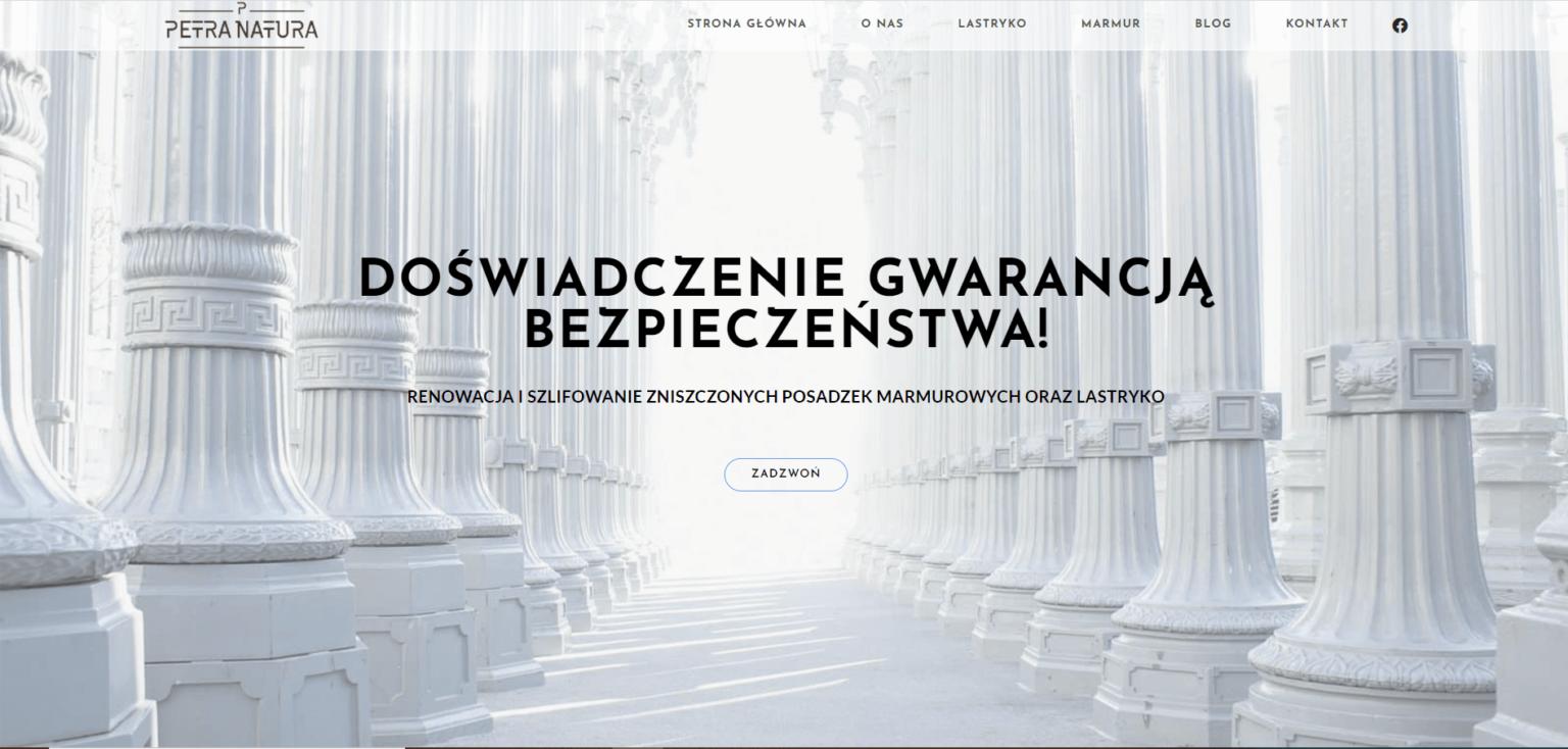 Strona internetowa firmy Petra Natura