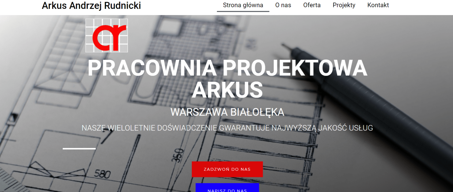 Strona internetowa firmy arkus andrzej rudnicki