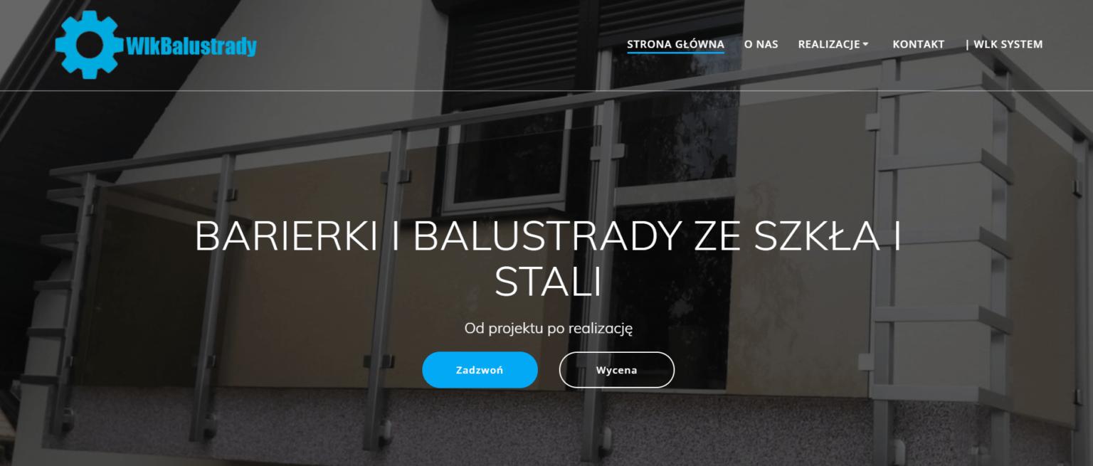 Strona internetowa producenta balustrad firmy wlk system