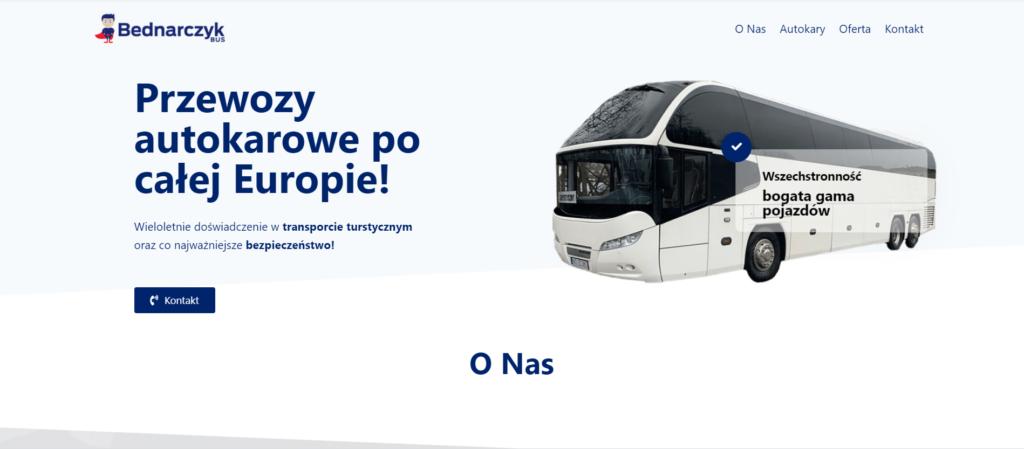 strona internetowa firmy transportowej bednarczyk bus