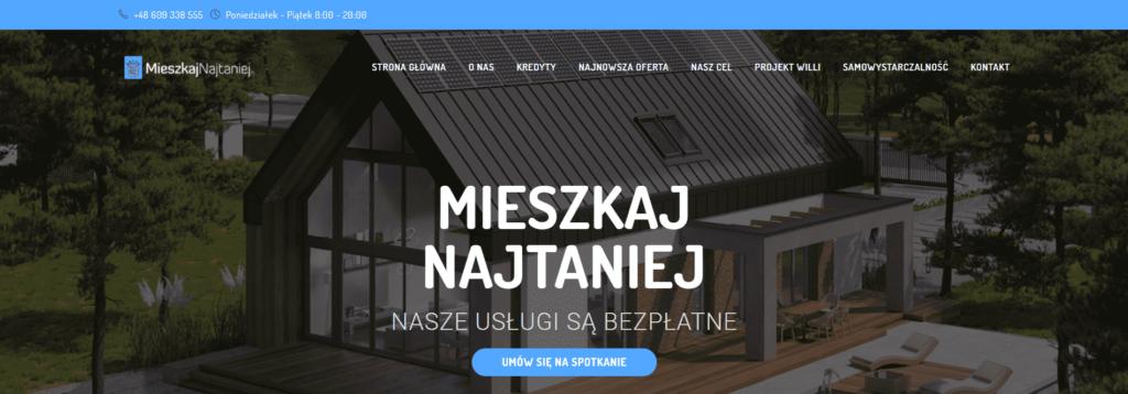 strona internetowa firmy mieszkaj najtaniej